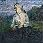 Kernstok Károly: Ülő nő (id: 20163) vászonkép