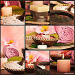 Rózsaszín fürdőhely kollázs. (id: 4763) poszter
