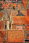 Részlet a régi narancssárga háztetők a történelmi városban (id: 5063) vászonkép óra
