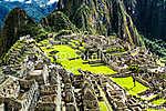 Machu Picchu, az ősi inka város Andoknál, Peru (id: 5963) falikép keretezve