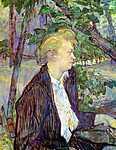 Henri de Toulouse Lautrec: Asszony a kertben (id: 1164) falikép keretezve