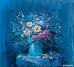 Oil painting flowers (id: 15964) vászonkép óra