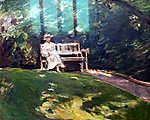 Max Liebermann: Kerti pad (1916) (id: 19664) tapéta