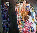 Gustav Klimt: Élet és halál (színváltozat 1.) (id: 3664) poszter