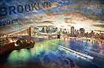 New York, Brooklyn-híd (id: 3864) vászonkép