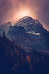 Naplemente, Banff Nemzeti Park, Kanada (id: 16665) többrészes vászonkép
