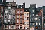 Sorházak az óvárosban (id: 17265) vászonkép óra
