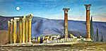 Csontváry Kosztka Tivadar: A Jupiter-templom romjai Athénban (színverzió 1) (id: 20265) vászonkép