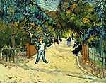 Vincent Van Gogh: Az Arles-i park bejárata (id: 2865) vászonkép óra