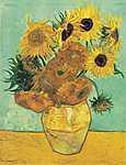 Vincent Van Gogh: Váza tizenkét napraforgóval (id: 3665) vászonkép óra