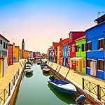 Velence, Burano sziget-csatorna (id: 5165) poszter