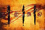 afro motívum etnikai retro vintage (id: 7265) vászonkép
