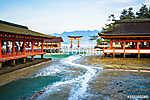 A lebegő Torii kapu Miyajimában, Japánban (id: 9365) poszter