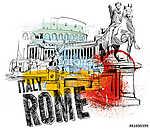 Róma (id: 10366) vászonkép óra
