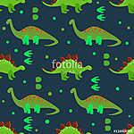 Aranyos dinoszauruszok zökkenőmentes mintázata. Vektoros háttér  (id: 11366) falikép keretezve