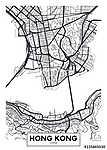 Vektor poszter térkép városa Hong Kong (id: 11966)