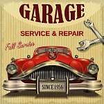 Vintage garage retro poster (id: 19166) tapéta