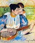 Mary Cassatt: Bendszó lecke (id: 1966) tapéta