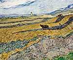 Vincent Van Gogh: Föld szántóvetővel (id: 2866) falikép keretezve