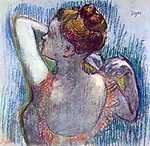 Edgar Degas: Balett- táncosnő háttal (id: 866) vászonkép óra
