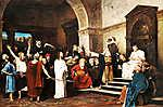 Munkácsy Mihály: Krisztus Pilátus előtt (id: 20267) falikép keretezve