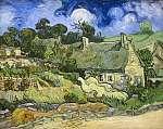 Vincent Van Gogh: Nádfedeles házikó Cordeville-ben (id: 267) vászonkép óra