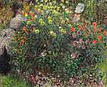 Claude Monet: Hölgyek a virágok közt (1875) (id: 2967) vászonkép óra