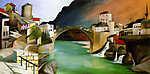 Georges Seurat: Római híd Mostarban (1903) (id: 6067) vászonkép