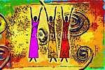 Afrika retro vintage stílusban (id: 7367) tapéta