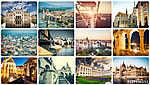 különböző budapesti látnivalók kollázsa (id: 9467)