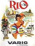Rio, VARIG légitársaság (id: 1169) falikép keretezve