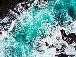 Sziklák és hullámok tusája (légifotó) (id: 12669) tapéta