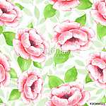 Floral seamless pattern. Watercolor background with pink flowers (id: 14169) tapéta