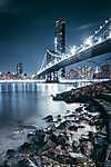 Brooklyn bridge éjjeli fényekben (id: 17469) vászonkép