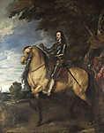 Anthony van Dyck : I. Károly angol király lovas portréja (id: 19369) vászonkép óra