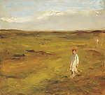 Max Liebermann: Gyerek a homokdűnén (id: 19669) vászonkép óra