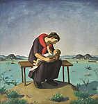 Fényes Adolf: Anya gyeremekével (id: 19769) falikép keretezve
