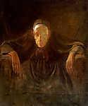 Mednyánszky László: Öreg hölgy portréja (tanulmány) (id: 19969) falikép keretezve