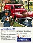 Dodge teherautó - Mindig megbízható! (id: 2169) falikép keretezve