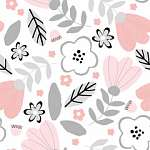 Lányka álom virágos tapétaminta (id: 21869) poszter