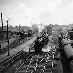 FORTEPAN: Nyugati pályaudvar a Ferdinánd hídról nézve (1938) (id: 22469) tapéta