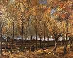 Pierre Auguste Renoir: Nyárfasor Neunen-nél (1885) (id: 369) vászonkép óra