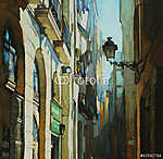 Gótikus negyed Barcelonában, (Barri Gótic) (id: 4969) vászonkép
