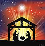 Hagyományos karácsonyi születésnapi jelenet (id: 7169)