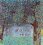 Gustav Klimt: Parasztház Buchbergben, 1911 (1.színváltozat) (id: 1070) tapéta