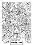 Vektor poszter térkép város Moszkva (id: 11970)
