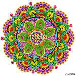 Isolated floral mandala (id: 13070) vászonkép