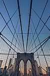 Brooklyn bridge, New York, USA (id: 17470) vászonkép óra