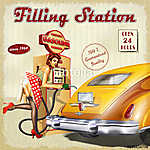 Filling station retro poster (id: 19170)