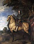 I. Károly angol király lovas portréja (színverzió 1.) (id: 19370) poszter